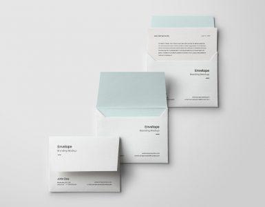 3 Minimal Envelope Mockups