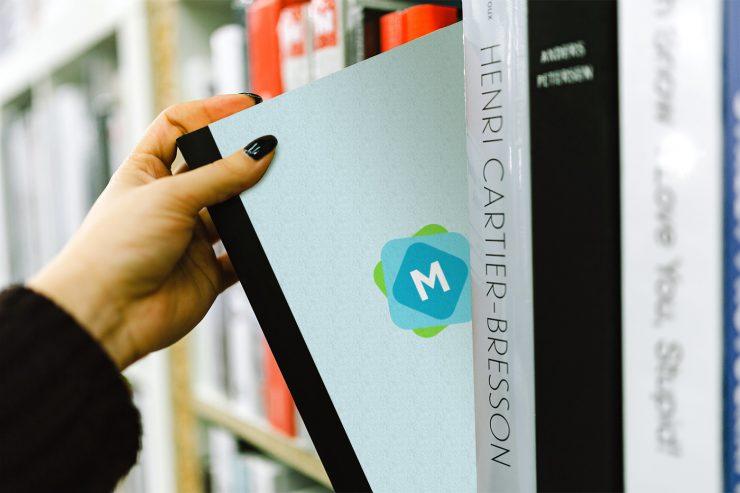 Book on Bookshelf Mockup
