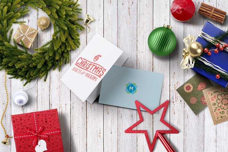 Christmas Card Scene Mockup