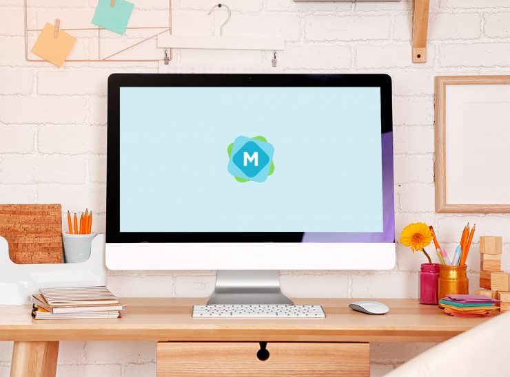 Colorful iMac Mockup
