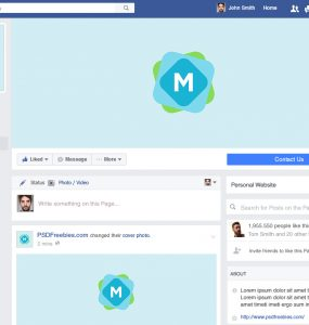 Facebook Brand Page 2016 Mockup