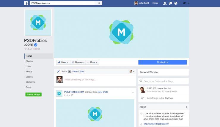 Facebook Brand Page 2016 Mockup