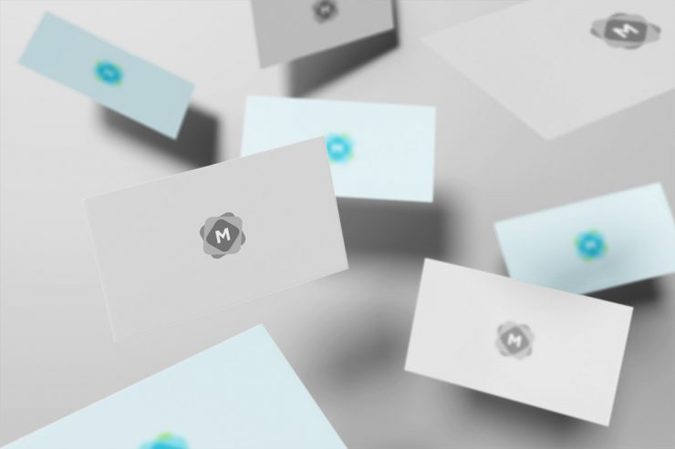 Floating Business Cards Mockup Mockup Templates - Business card mockup template
