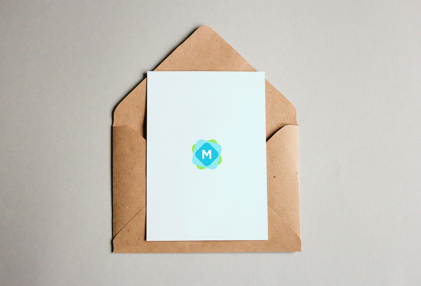 Greeting Card Envelope Mockup