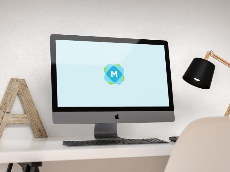 iMac Pro Desk Scene Mockup