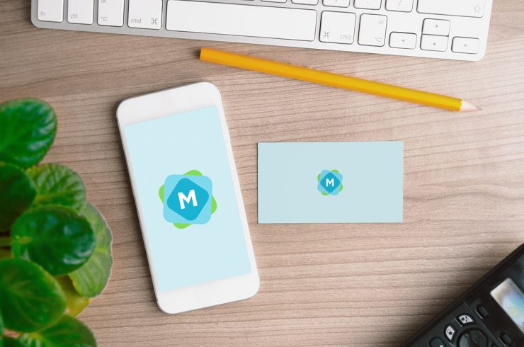 iPhone & Business Card Mockup