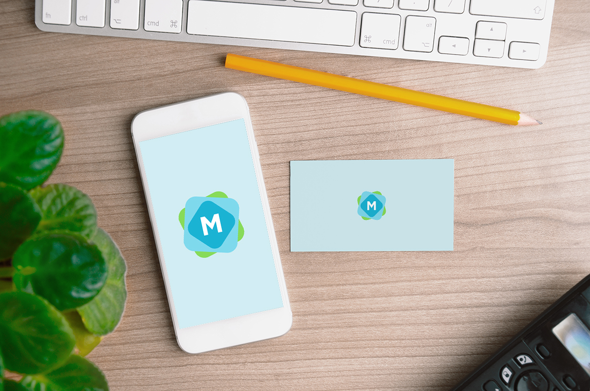 iPhone & Business Card Mockup - Mockup Templates