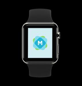 Realistic Black & White Apple Watch Mockup