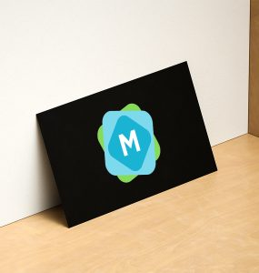 Leaning Business Card Mockup