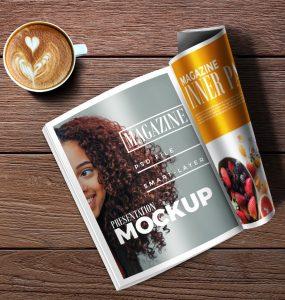 Magazine & Coffee Mockup