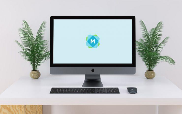 Minimal iMac Pro Desk Mockup