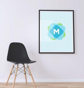 Minimal Poster Wall Mockup PSD
