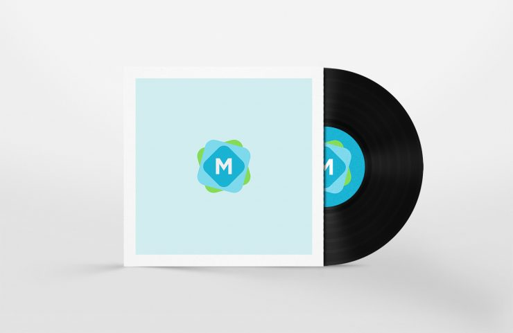 Minimal Vinyl Disc Art Mockup