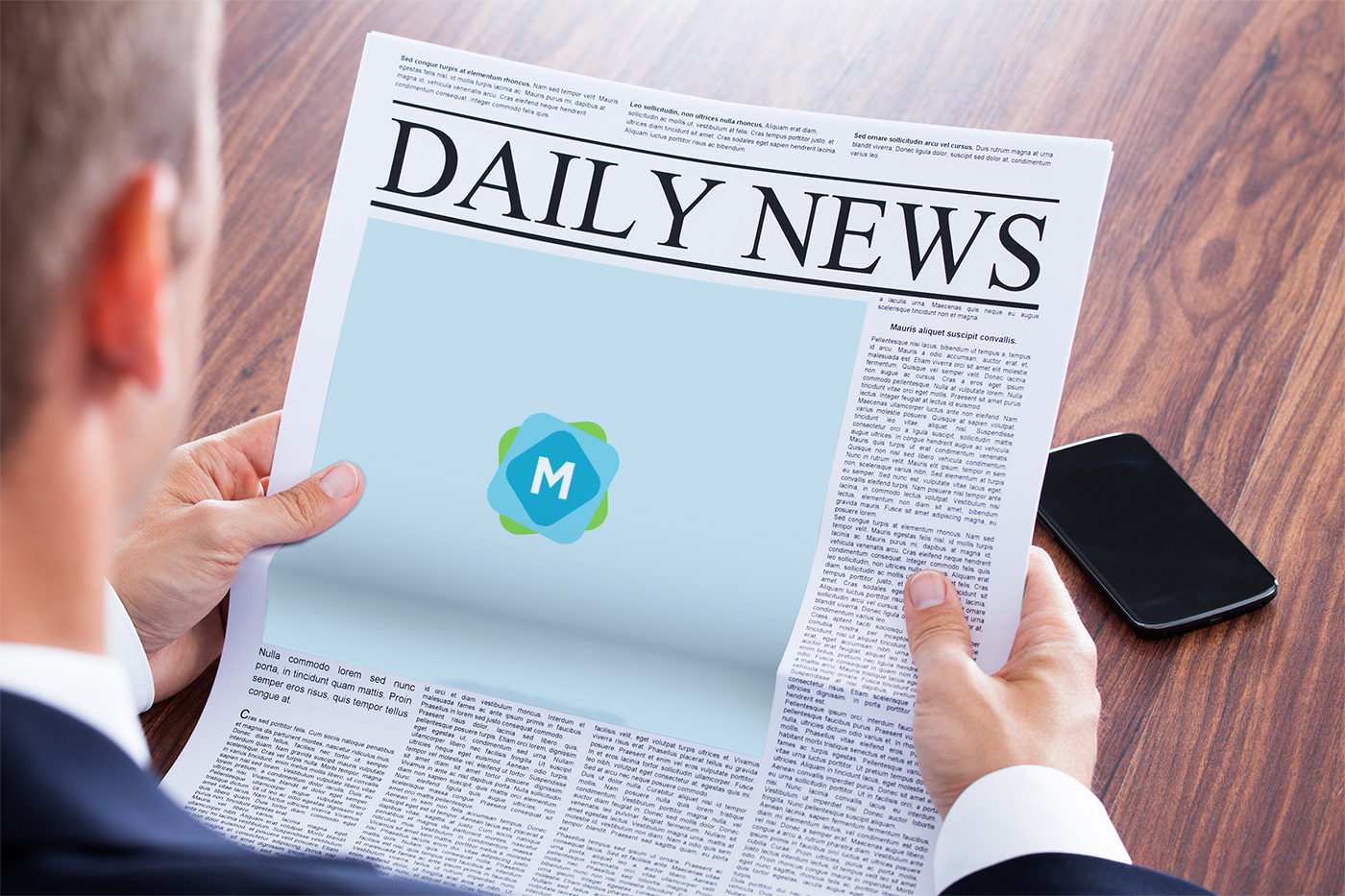 newspaper large ad mockup
