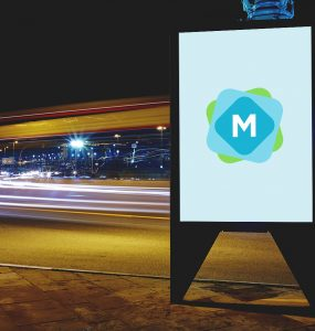 Night Billboard Mockup PSD