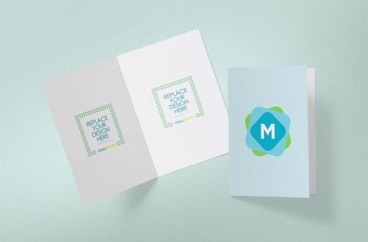 Simple greeting card mockup mockup templates simple greeting card mockup m4hsunfo