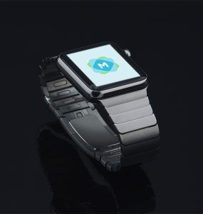 Stainless Steel Apple Watch Mockup