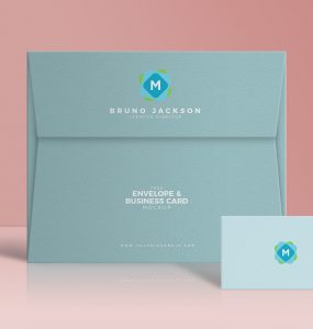 Stylish Envelope & Business Card Mockup