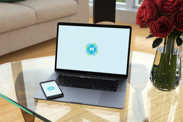 Stylish MacBook Pro & iPhone Mockup