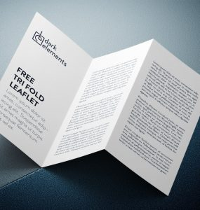 Stylish Tri-Fold Brochure Mockup