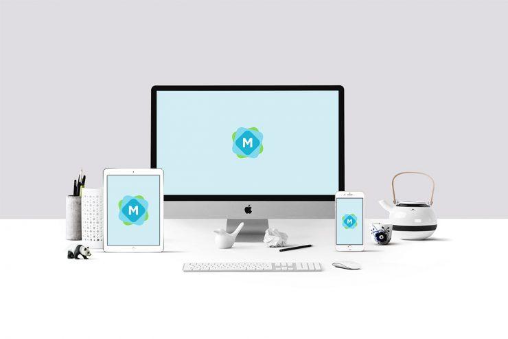 Stylish Workspace Mockup PSD
