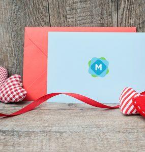 Valentine's Day Card Mockup PSD