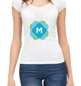 Woman's T-Shirt Mockup PSD