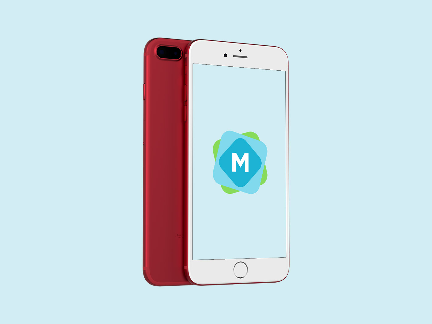 Product Red Iphone Mockup Mockup Templates