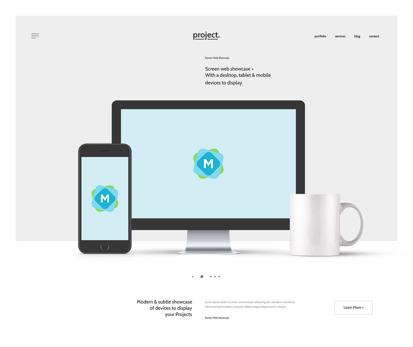website header showcase mockup template mockup templates. Black Bedroom Furniture Sets. Home Design Ideas